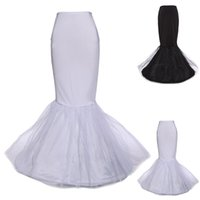Wholesale 2 Colors White Black Petticoats Mermaid Wedding Petticoat Underskirt Bridal Crinoline Slip For Wedding Dresses Bridal Accessories