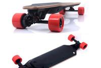Wholesale 2016 Newest W dual motor bamboo electric skateboard for sale outdoor sports skateboard skateboarding