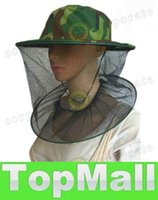 Wholesale LAI Camouflage Mosquito Bee Insect Cap Outdoor Foldable Sun Shade Fishing Fisherman Camping Mask Face Protect Cap