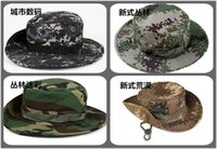 Wholesale Men Women Military Camouflage Bucket Hats Jungle Camo Fisherman Hat with Wide Brim Sun Fishing Bucket Hat Camping Hunting Caps