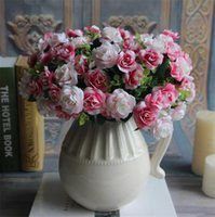 Wedding australia silks - Silk Australia Rose Bunch stems piece cm quot Length Artificial Flowers Roses Camellia for DIY Bridal Bouquet Accessories
