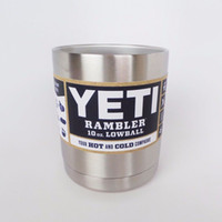 aluminum alloy steel - 10oz Yeti Tumbler Stainless Steel Vacuum Insulated Bottle Cup Double Walled Travel Mug Car Beer Coffee Cup