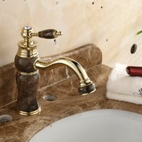 Wholesale 2016 new style vintage luxury sink facuet bathroom kithchen deck mounted jade sink tap for home decoation