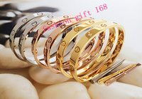 Wholesale high quality New brand lovers titanium steel Bracelets Cuff Bangle gold plated Love Screws Bracelets with Screwdriver