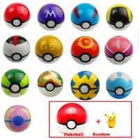 Wholesale 13 Color Pokeball Free Random Poke Figures Classic Anime Pikachu Super Master Poke Ball Toys