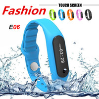 Wholesale New E06 Smartband Smart bracelet Wristband Fitness tracker Bluetooth fit bit flex Watch for ios android better than mi band