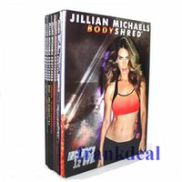 Wholesale Jillian Michaels BODYSHRED Workout DVDs Rotational Calendar Meal Plan Fitness Guide DVD Moives Exercise Fitness Videos Top Quality
