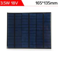 ELEGEEK Venta al por mayor 12pcs / lot 3.5W 18V 165 * 135mm Resina de epoxi Panel de silicona policristalina mini para la prueba del sistema solar DIY y Educación