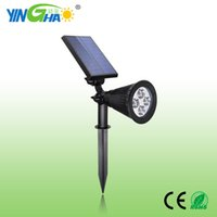 Wholesale The three generation of solar led lamp plug dual purpose lawn lamp wall lamp garden home outdoor spotlight Watt