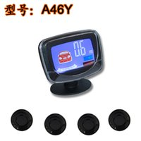 Wholesale 4 probe reversing radar range parking sensor LCD LCD color screen beep voice one
