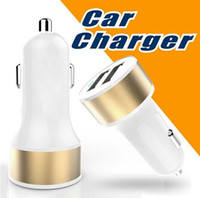 Wholesale Top Quality Dual USB Port Car Charger Universal Car Charger Adapter for Cell Phone iPhone S Plus Samsung S7 Tablet