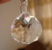 Wholesale 30pcs mm crystal TRANSPARENT faceted ball metal hook hanging prism drops glass prism pendant for sale