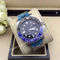 Wholesale Luxury businrss Ceramic Bezel GMT II mm wristwatch roles Blue Luminescent Dial stainless steel Automatic mechanical Men s Watches