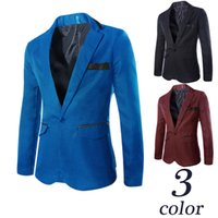 Wholesale new arrival blazers men blazer terno masculino jaquetas masculina single button mens blazers jacket size M XL HY898