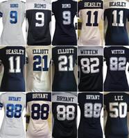 Wholesale Women s Cowboys jerseys rugby football jerseys Dallas ELLIOTT BRYANT WITTEN ROMO LEE drop freeshipping