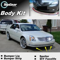 Wholesale For Cadillac DTS Bumper Lip Lips Front Skirt Deflector Spoiler For Car Tuning The Stig Recommend Body Kit Strip