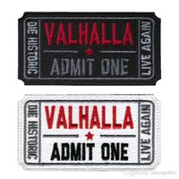 al por mayor militar loca-50 PCS Boleto a Valhalla Moral Militar Tactical Vikings Mad Max Remiendo Ejército Tactical Badge Embroidered Badges Fabric Armband Stickers