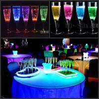 Wholesale 6Pcs per Liquid active LED Champagne Glass light up LED Flash Champagne Cup for club bar Party Decoration Christmas supplies CM