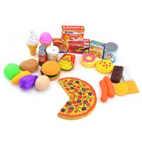 Wholesale 32pcs set Creative Mini Simulation Pizza Food Pretend Play Kitchen Cooking Toy Children Learning Educational Toy Fast Shipping