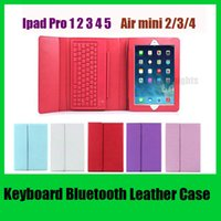 apple keyboard accessories - Bluetooth Version Keyboard leather case for Ipad Pro air mini retina Stand Holder Protective Lined With Keyboard US02