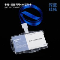 Wholesale High finish for business transparent designer card holders with lanyard for office with