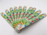 al por mayor recta bella-La moda de uñas colorido de archivos linda flor de mariposa imagen Diseño del papel de lija lijado recta del borde del clavo Material de bellas artes