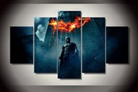 beginning oil painting - 5 Piece No Framed HD Printed batman begins dark knight Painting on canvas room decoration print poster picture canvas ny
