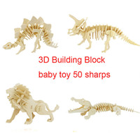 Wholesale model building block baby child toy new year gift dinosaurs car animal boat kinds environmental protection wood