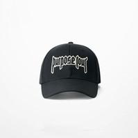 Wholesale High Quality Black Adjustable Justin Bieber Sport Snapback Baseball Purpose Tour Cap Embroidered Logo Hat Sale