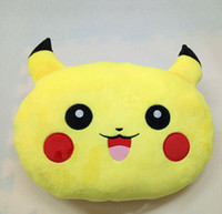 stuffed animal pillows - 2016 New cm Poke plush Pillow Pikachu Pillow Cushion Cartoon Pikachu Stuffed Animals Pillows Dolls EMS Shipping