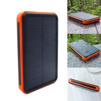 Wholesale Solar Charger Solar External Battery Pack Portable mAh Dual USB Solar Battery Charger Power Bank Phone Charger