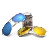 amber safety glasses - 2016 New Kids Designer Sunglasses Fashion Cool Polarized Sunglasses UV400 Safety Coating Boys Girls Glasses Gift For Children s Day