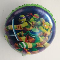 air ballons - Lucky inch Teenage Mutant Ninja Turtles Foil Balloons Party Helium Balloon Gift For Birthday Inflatable Air Ballons