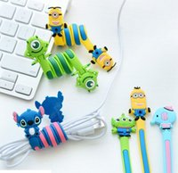 Wholesale NEW style Cute animals cable winder Moblie Earphone bobbin winder cable management