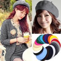 army beret - New arrive Spring Autumn woman Wool beret hats Princess hat Caps MOQ DHL