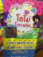 Wholesale 200pcs OMO White rainbow soap Promotion Gluta Whitening Soap rainbow soap OMO White Mix Fruits Color DHL