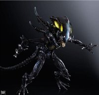 alien warrior figure - Action Figures Play Arts PA change change profiled colonial clan Alien Warrior VS vomiting movable hand Office animation model CM PCV