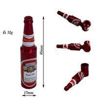 beer trading - Foreign trade sales freestyle portable cigarette holder Metal large beer bottles rod aluminum alloy Smoking Pipes Smoking Accessories AB18