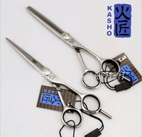 Wholesale 6 inch KASHO Hair Cutting Scissors Hair Shears Barber Scissors Hairdressing Scissors made of SUS440C