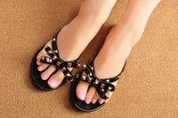 Wholesale 20162016 fashion women rivet jelly flip flops flat sandals luxury designer shoes flip flops beach sandals