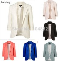 best women suits brands - EAST KNITTING Best Quality New Women Blazers Brand Coat Jacket Business Suit Lady Seven Sleeve Solid Color Jacket