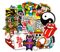 animal luggage sale - 100 Car Stickers mixed Hot sale Snowboard Doodle Luggage Laptop Decal Toys Bike Car Moto Funny Cartoon Jdm Sticker