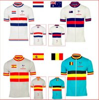 australia golds - Special offer cycling jersey bike wear clothing Holland Belgium Australia Spain Netherlands National flag pro team nowgonow