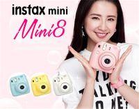 Wholesale Mini Film Camera A beauty shot imaging Polaroid camera mini8 Normal Edition autofocus flash light and dark adjustment