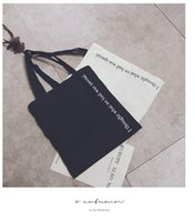 alphabet tote bags - New Alphabet Canvas Shoulder Bag Shopping Bag Bag Large Capacity Bag Black White Simple Fashion New Print Craft Canvas Bag Open Pack