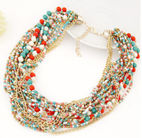 Wholesale newest high fashion double strand of bohemia style street snap