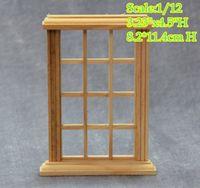 Wholesale DIY Scale Dollhouse Miniature Panel Glass Window Frame frames