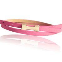 Gros-2016 Pigskin cuir est chaud Mode Métal Boucle Femmes / Livraison PU mince ceinture Baudrier Femme Straps Mesdames Cummerbund gratuit