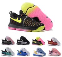 Cheap 16 Colour 2016 Kd 9 Basketball Shoes Sneakers Runing Kevins Kds VIIII Lowe Elite Blue Durant Men's Athletic Kd9 Wholesale Sports Shoes