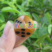 Wholesale 20pcs MM Table DICE Brown point black oil special game party machine Children dices bosons IVU